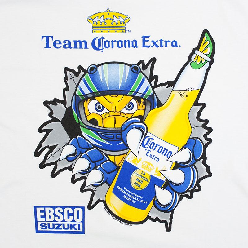 Corona Extra Men's White Team Corona Suzuki Tee Shirt