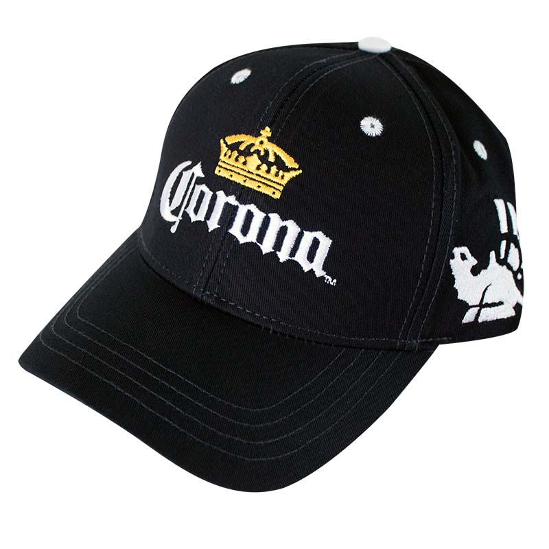 Corona Crown Logo Black Men's Hat
