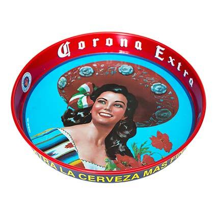 Corona Extra Tapitia Metal Red Serving Tray
