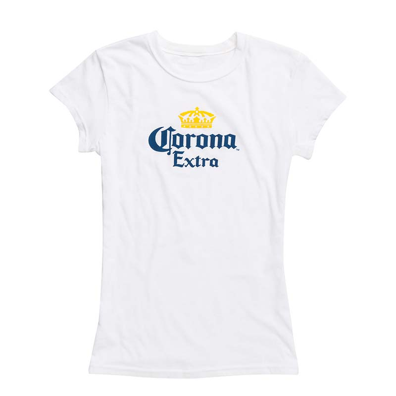 a38c5ef13574a Corona Extra Ladies White Tee Shirt