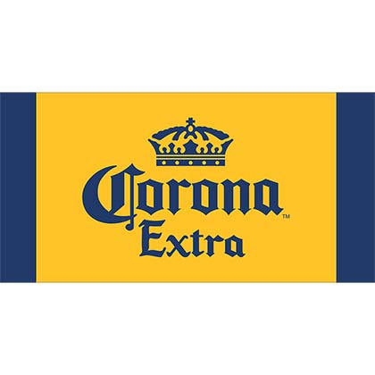 Corona Extra Yellow Nylon Woven Beach Mat