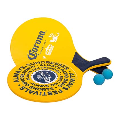 Corona Extra Yellow Paddle Ball Set