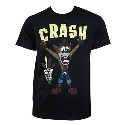 Crash Bandicoot Men's Black Crash T-Shirt