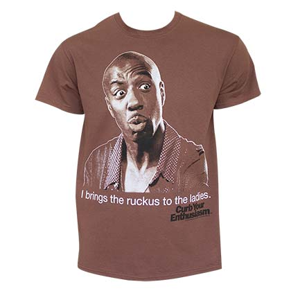 Curb Your Enthusiasm Men's Brown I Brings The Ruckus T-Shirt