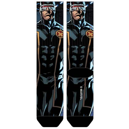 X-Men Men's Sublimated Cyclops Crew Socks