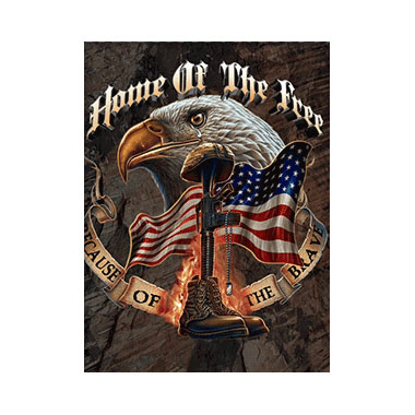 Patriotic USA Home Of The Free 3D Matted Art