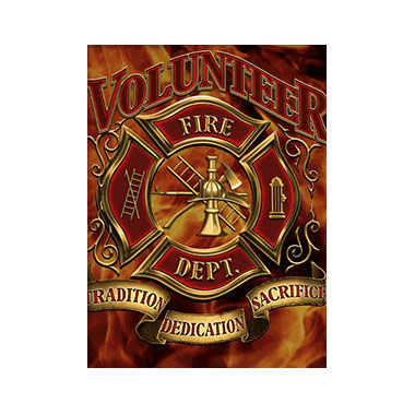 Firefighter Volunteers 3D Matted Art