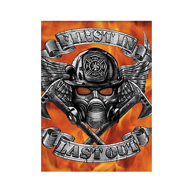 Firefighter First In Last Out 3D Matted Art