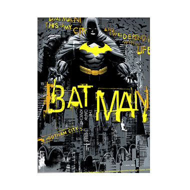 Batman Defender 3D Matted Art