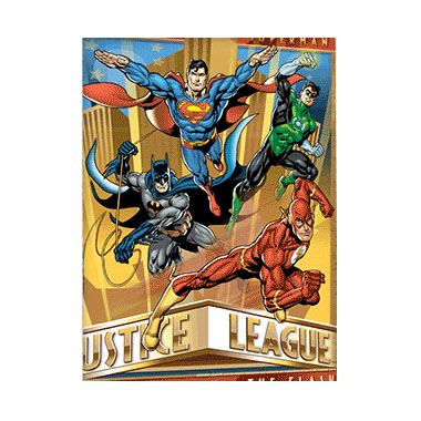 Justice League 3D Matted Art