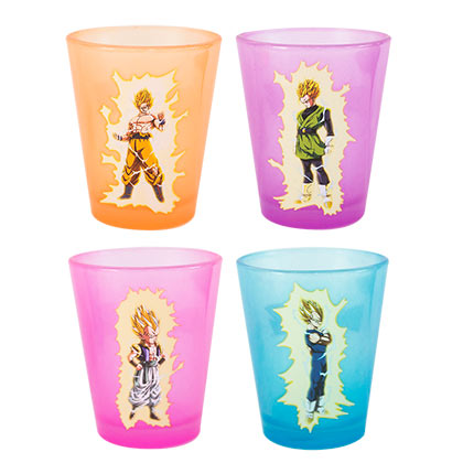 Dragonball Z Glow In The Dark Shot Glasses