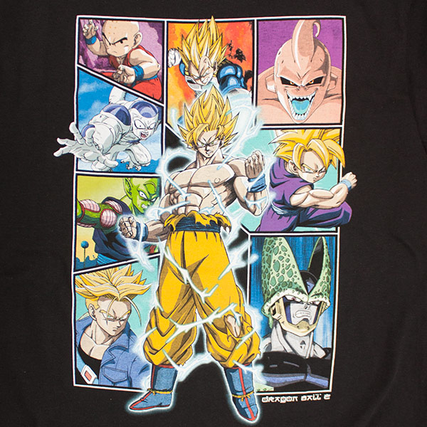 Dragon Ball Z Black Character Collage T-Shirt