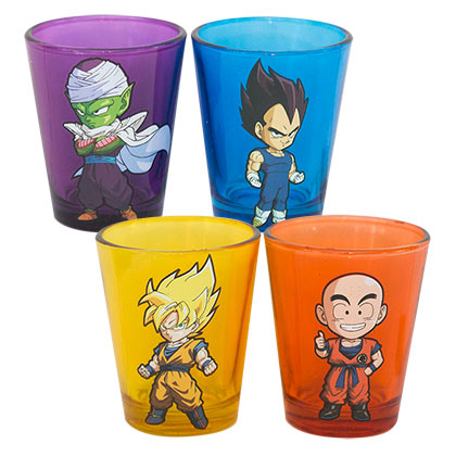 Dragonball Z Four Pack Shot Glasses
