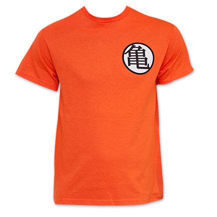 Men's Orange Dragon Ball Z Goku King Kai Kanji T Shirt