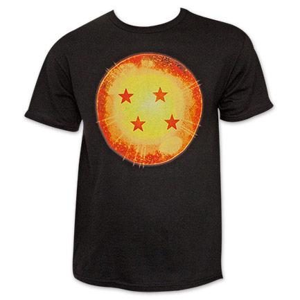 Dragon Ball Z Black Four Star Dragon Ball Tee Shirt