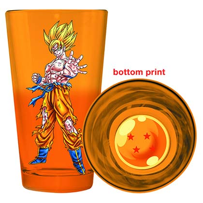 Dragonball Z Orange Goku Pint Glass