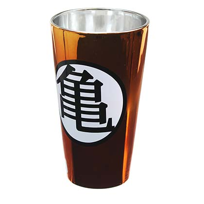 Dragonball Z Orange Metallic Kame Pint Glass
