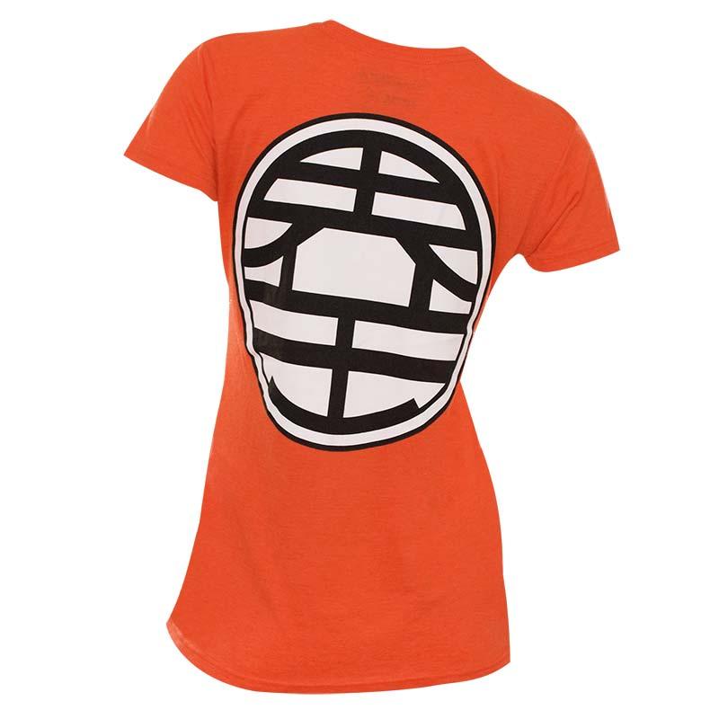 Womens Cotton Blend Dragonball Z Kame Symbol T Shirt Tvmoviedepot