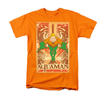 Aquaman Men's Orange T-Shirt