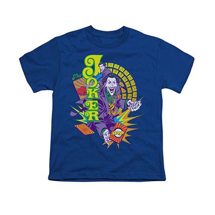 Batman Joker Raw Deal Blue Youth Unisex T-Shirt