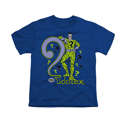 Batman Riddler Blue Youth Unisex T-Shirt
