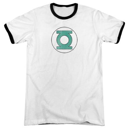 Green Lantern Logo Ringer Tshirt