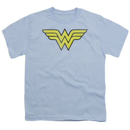 Wonder Woman Classic Logo Blue Youth Tshirt