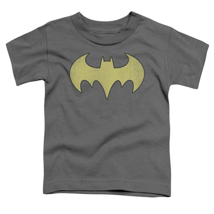 Batman Batgirl Distressed Logo Toddlers Tshirt