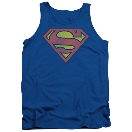 Superman Washed Logo Tank Top