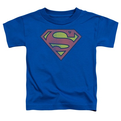 Superman Distressed Logo Toddlers Tshirt