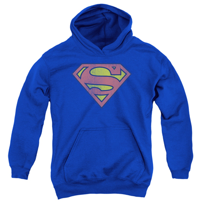 Superman Distressed Logo Youth Hoodie