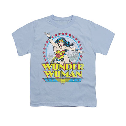 Wonder Woman Star Of Paradise Island Blue Youth Unisex T-Shirt