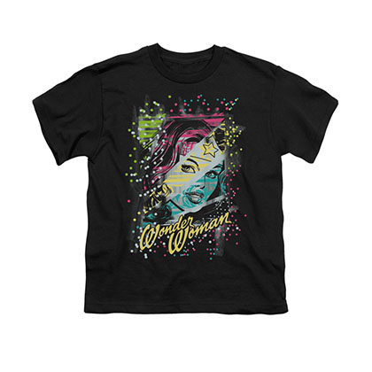 Wonder Woman Color Block Black Youth Unisex T-Shirt