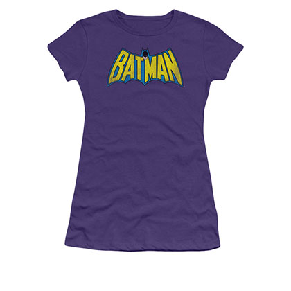 Batman Classic Logo Juniors Purple T-Shirt
