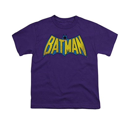 Batman Classic Logo Purple Youth Unisex T-Shirt