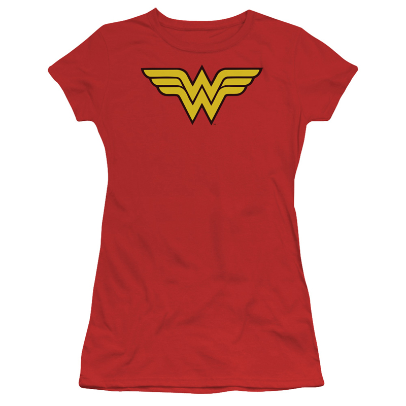 Wonder Woman Classic Logo Red Womens Shirt