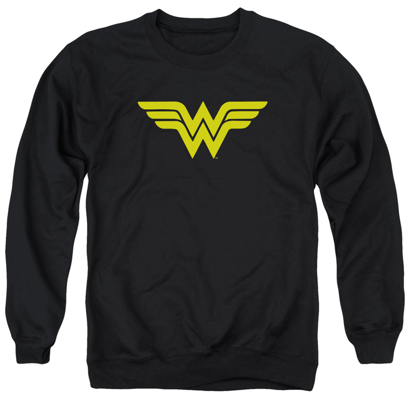 Wonder Woman Logo Black Crewneck Sweatshirt