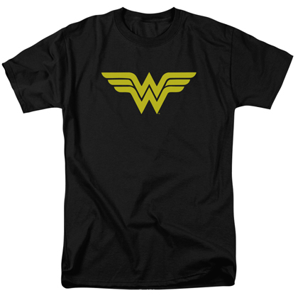 Wonder Woman Classic Logo Men's Black Tshirt