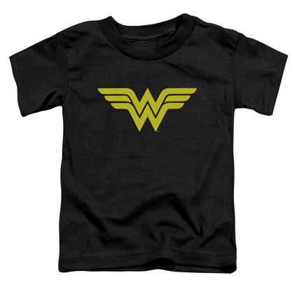 Wonder Woman Logo Toddlers Black Tshirt