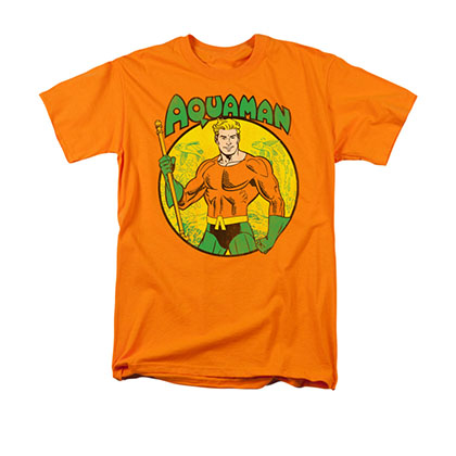 Aquaman Comic Orange Men's T-Shirt