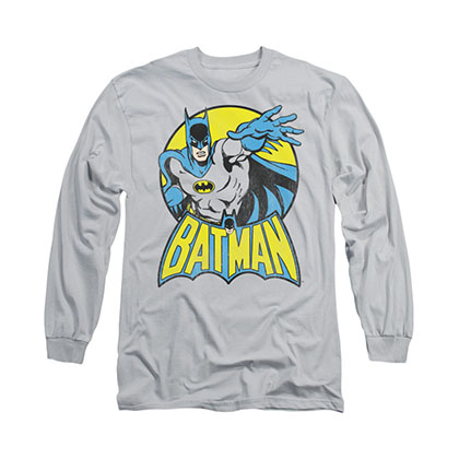 Batman Circle Gray Long Sleeve T-Shirt