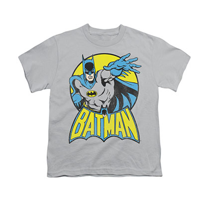 Batman Comic Circle Gray Youth Unisex T-Shirt