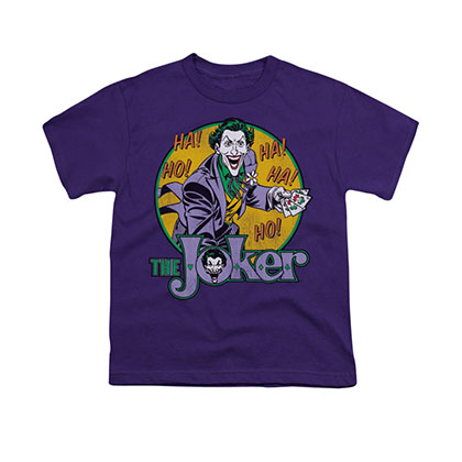 Batman Joker Circle Purple Youth Unisex T-Shirt