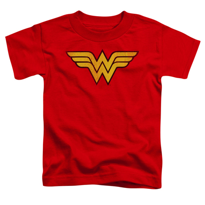 Wonder Woman Distressed Logo Toddlers Tshirt