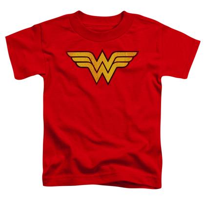 Wonder Woman Distressed Logo Toddlers Tshirt