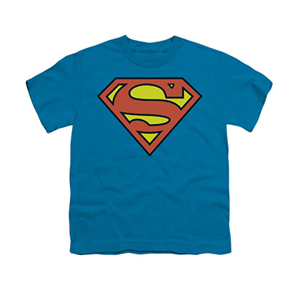 Superman Classic Logo Blue Youth Unisex T-Shirt