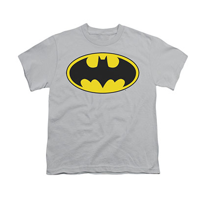 Batman Logo Gray Youth Unisex T-Shirt