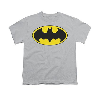 Batman Logo Gray Youth Unisex T-Shirt