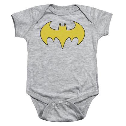 Batman Batgirl Logo Baby Onesie