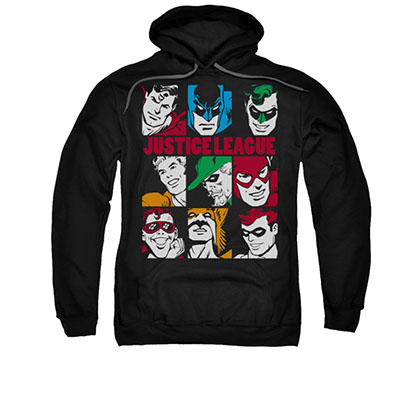 Justice League Men's Black Blocks Pullover Hoodie